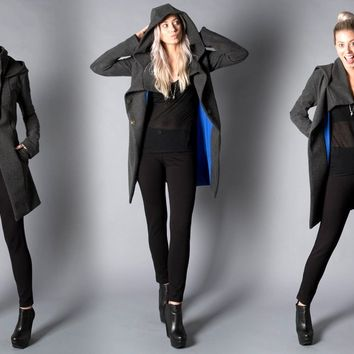 All-Day Coat | Women's Black Swing Coat | Betabrand & Melissa Fleis