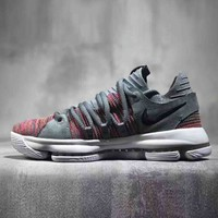Nike Zoom KD 10 EP Trending Men Casual Flyknit Breathable Bandage Sport Running Shoe Sneakers I-CSXY