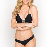 Montce Swim - Dopio Top | Black String Bikini
