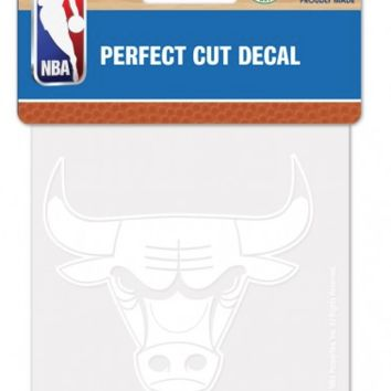 Chicago Bulls 4X4 White Perfect Cut Decal By Wincraft