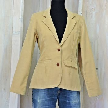 Vintage 70s Corduroy Blazer / Womens M size M 8 / 9  /  Wranglers made in USA / wheat tan / western / retro