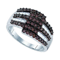 Diamond Fashion Ring in White Gold-plated silver 0.95 ctw