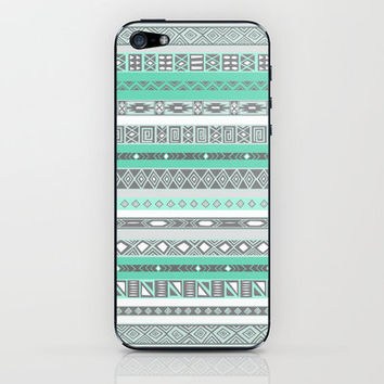 Cool Mint Tiffany Aztec Pattern iPhone & iPod Skin by RexLambo | Society6