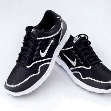 Tagre™ Nike Orive NM BRAND NEW Swarovski Rhinestone Studded Bling Athletic Shoes, Anthracite