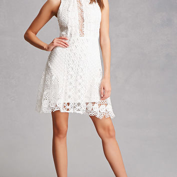 Soieblu Crochet Mini Dress