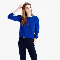 Back-zip crewneck sweater : Women sweaters | J.Crew