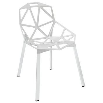 Connections Dining Side Chair in White