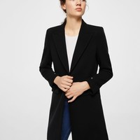 Masculine structured coat - Women | MANGO USA