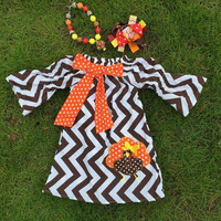In Stock-Chevron Embroidered Turkey Dress