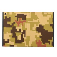 Brown Green Camouflage Pattern iPad Air Case