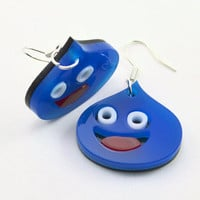Dragon Quest Blue Slime Earrings
