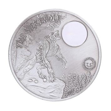 Collectible Coin Silver Plated Moon Night Werewolf Commemorative Coin Souvenir Collection