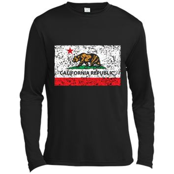 California Republic Cali Flag T-Shirt Socal Norcal Cencal T Long Sleeve Moisture Absorbing Shirt