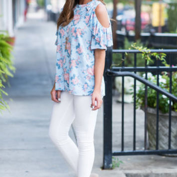 Associated Perfection Top, Sky Blue