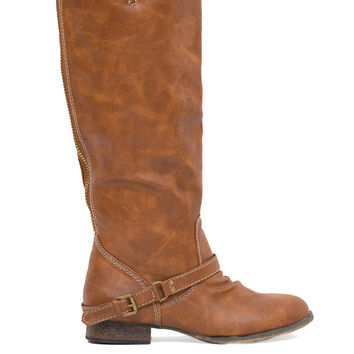 Buckle Up Boots - Tan