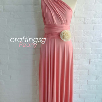 Bridesmaid Dress Infinity Dress Peony Floor Length Wrap Convertible Dress Wedding Dress