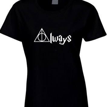 Always Deathly Hallows Harry Potter Womens T Shirt