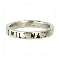 Christian Women's Stainless Steel Petite I Will Wait Abstinence Chastity Purity Ring for Girls