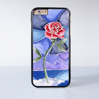 Beauty and Beast Flower Plastic Case Cover for Apple iPhone 6 6 Plus 4 4s 5 5s 5c