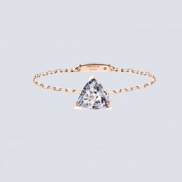 Triangle 0.2ct Diamond Chain Ring  by Alexander Fuchs, Designer  Jewellery, Kabiri Jewellery Store Online