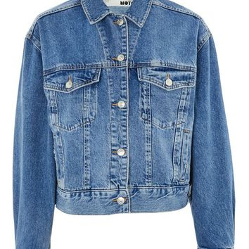 PETITE Oversized Denim Jacket