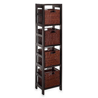 Leo Storage Shelf with 4 Wire Frame Baskets