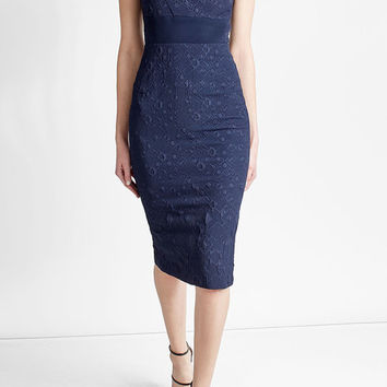 Midi Dress with Cotton - Roland Mouret | WOMEN | US STYLEBOP.COM