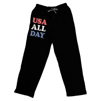 USA All Day - Distressed Patriotic Design Adult Lounge Pants by TooLoud