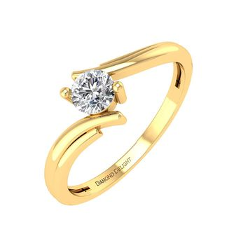 IGI CERTIFIED | Round Cut Diamond 1/5 carat Wedding Engagement Ring in 14K Gold (White, Yellow, Rose)