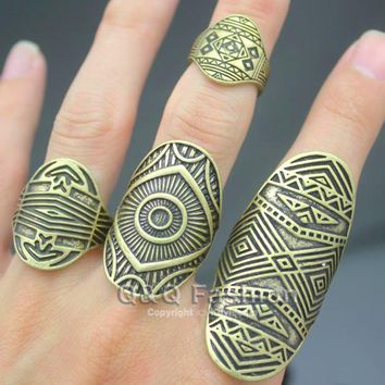 Tribal Indian Mayan Calendar Aztec  Band