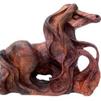 Horse Wood Carving, Elm Burr, Horse sculpture, Wood ornament, Horse Statue, Horse Carving, Pony Carving, Wood horse sculpture, horse art