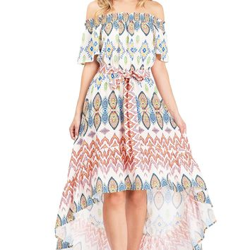 Rising Sun Hi-Lo Dress