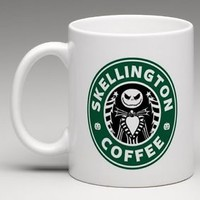 CUSTOM MADE Starbucks Jack Skellington Coffee Mug Tea Cup Gift