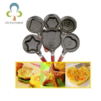 Fry Egg Pancakes Various Kitchen Mini Small Frying Pan Cauldron Housewares Various Kitchen Shaper Fried Tool Breakfast Tool GYH