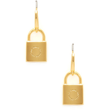 Marc by Marc Jacobs Jewelry Women's Locked Up Drop Earrings - Gold