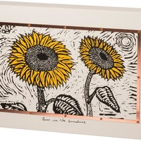 Sunflowers Box Sign By Primitives By Kathy