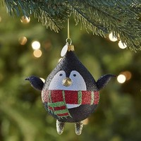 European Glass Penguin Ornament$13.95