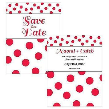 Candy Colorful Save The Date Card Sea Blue (Pack of 1)