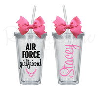 ANY COLORS Air Force Girlfriend/Sister/Mom/Wife/etc PersonalizedTumbler