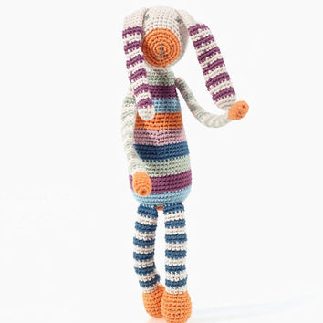 Organic Rainbow Bunny Knitted Toy