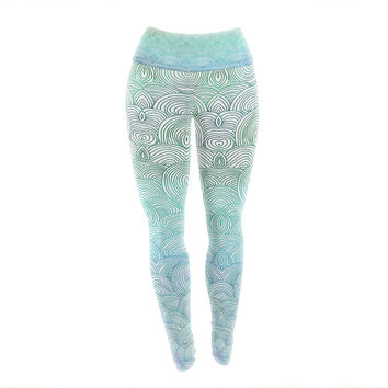 "Pom Graphic Design ""Clouds in the Sky"" Yoga Leggings"