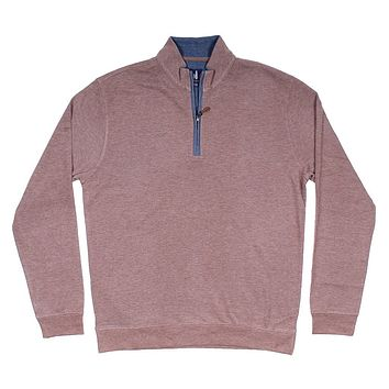 Sully 1/4 Zip Performance Pullover in Havana by Johnnie-O - FINAL SALE