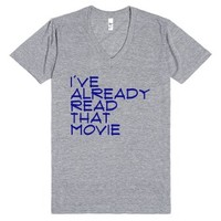 I've already read that movie-Unisex Athletic Grey T-Shirt