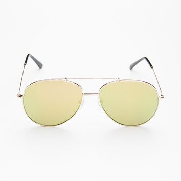 Free People Bright Eyes Oversized Aviator
