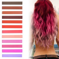 Rose Red Tint Hair Color | HairChalk Set of 12