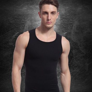 Running Vests Jogging 2017 Men Breathable Fitness Tank T-Shirt Sleeveless Sports GYM Tops Workout Running Athletic Training Vest Male HSNY075 KO_11_1