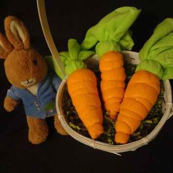 Washcloth Carrots - Easter basket stuffer,  Baby Shower Favor, Decoration, Centerpiece, Gift, Rabbit, washcloth lollipop