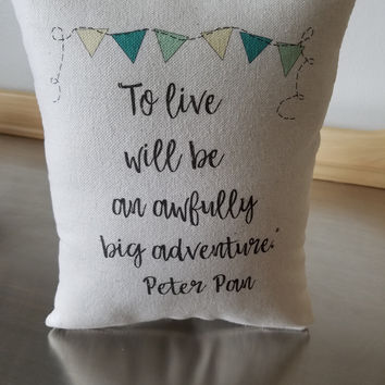 Pillows for nursery kids throw pillow soft cotton cushion Peter Pan kids room decor