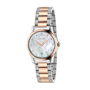 Gucci G-Timeless 12 Diamonds in Mother of Pearl Dial Ladies' Watch