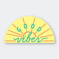 Good Vibes Vinyl Sticker